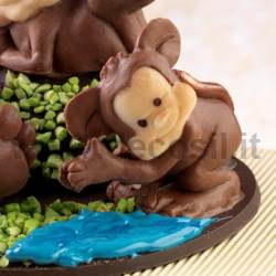 Monkey Diver Chocolate Mould