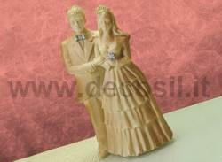 Bride and groom chocolate mold – Large size