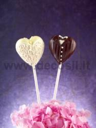 decoStick Wedding Hearts mold