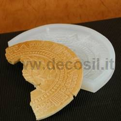 Aztec stone crescent-shaped mold