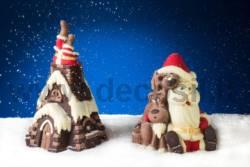 Stampo Guscio Pino Babbo Natale nel Camino