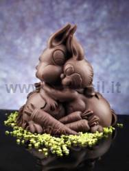 Chocolate Bunny Hug Bell Mold