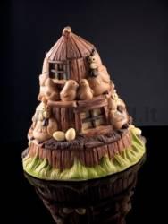 Easter Hen Shell Bell House Mould LINEAGUSCIO®