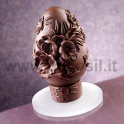 Peach Flowers  Chocolate Easter Egg Mold