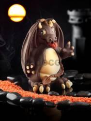 Small Dragon Chocolate Easter Egg Mold