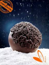 Chocolate Snow Crystals Sphere mould