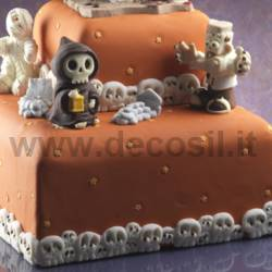 Decor Border Skulls mold