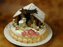 Nativity's hut with Christmas Star mould