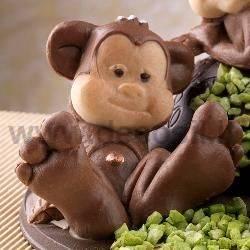 Monkey Sitting Chocolate Mold