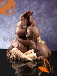 Chocolate Bunny Hug Bell Mould