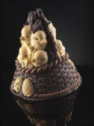 Basket of Chicks Bell mold