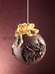 Chocolate Holly Sphere mold